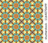 seamless patchwork pattern... | Shutterstock .eps vector #1164070699