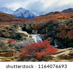 the clouds hid the fitz roy... | Shutterstock . vector #1164076693