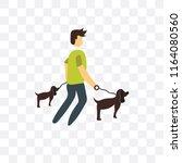 walking the dog vector icon... | Shutterstock .eps vector #1164080560