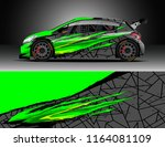car decal wrap  truck and cargo ... | Shutterstock .eps vector #1164081109