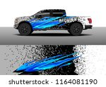 car decal wrap  truck and cargo ... | Shutterstock .eps vector #1164081190