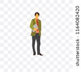 man vector icon isolated on... | Shutterstock .eps vector #1164082420