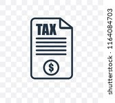 tax vector icon isolated on... | Shutterstock .eps vector #1164084703