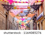view of tipical madrid tissues... | Shutterstock . vector #1164085276