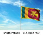 sri lanka national flag with... | Shutterstock . vector #1164085750