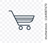 cart vector icon isolated on... | Shutterstock .eps vector #1164087670