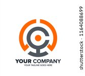 abstract letter c consulting... | Shutterstock .eps vector #1164088699