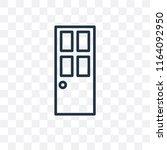 door vector icon isolated on... | Shutterstock .eps vector #1164092950