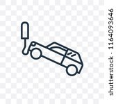tow truck vector icon isolated... | Shutterstock .eps vector #1164093646