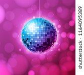 disco ball. disco ball pink... | Shutterstock .eps vector #1164095389
