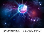 disco ball. disco ball on open... | Shutterstock .eps vector #1164095449