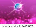 disco ball. disco ball pink... | Shutterstock .eps vector #1164095473