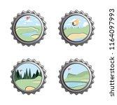 golf curses scene seals   Shutterstock .eps vector #1164097993