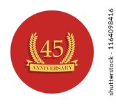 45 anniversary sign icon in...