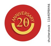 20 anniversary sign icon in...
