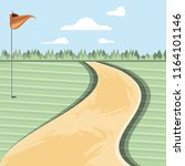 golf curse with way scene | Shutterstock .eps vector #1164101146