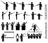 speaker presentation teaching... | Shutterstock .eps vector #116411044