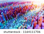 abstract colourful voxel... | Shutterstock . vector #1164111706