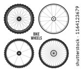 bicycle wheel symbol vector.... | Shutterstock .eps vector #1164123679