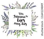 watercolor decorative frame...   Shutterstock . vector #1164124849