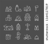 set of line art camping icons.... | Shutterstock .eps vector #1164127819