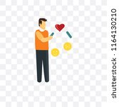 dating vector icon isolated on... | Shutterstock .eps vector #1164130210