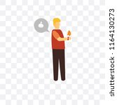 smartwatch vector icon isolated ... | Shutterstock .eps vector #1164130273