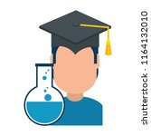 student graduated with tube test | Shutterstock .eps vector #1164132010