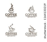 collection of coffee cup labels ... | Shutterstock .eps vector #1164133219
