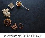 ingredients for baking using... | Shutterstock . vector #1164141673