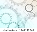 elegant gears abstract... | Shutterstock .eps vector #1164142549