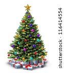 Decorated Christmas Tree Of...