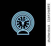round table clock line icon in...