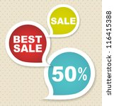 sale labels | Shutterstock .eps vector #116415388