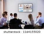 group of skillful... | Shutterstock . vector #1164155020