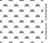 diadem icon in pattern style....