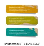 three abstract vintage old... | Shutterstock .eps vector #116416669