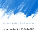 blue vector abstract hand... | Shutterstock .eps vector #116416708