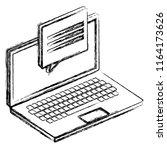 laptop computer with speech... | Shutterstock .eps vector #1164173626