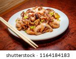 spicy asian barbecue baby... | Shutterstock . vector #1164184183