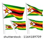 zimbabwe vector flags set. 5... | Shutterstock .eps vector #1164189709