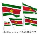 surinam vector flags set. 5... | Shutterstock .eps vector #1164189739