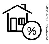 house with percent  credit line ... | Shutterstock .eps vector #1164190093