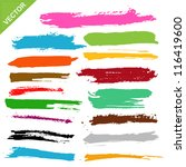 brush strokes vector | Shutterstock .eps vector #116419600