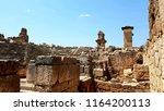 xantos antique tombs in fethiye ... | Shutterstock . vector #1164200113
