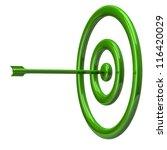 illustration of green target... | Shutterstock . vector #116420029