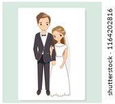 vector of cute couple in... | Shutterstock .eps vector #1164202816