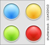 round buttons  vector eps10... | Shutterstock .eps vector #116420410