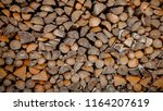 material for heating the house. ... | Shutterstock . vector #1164207619