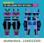 top and legging pants set  ...   Shutterstock .eps vector #1164212203